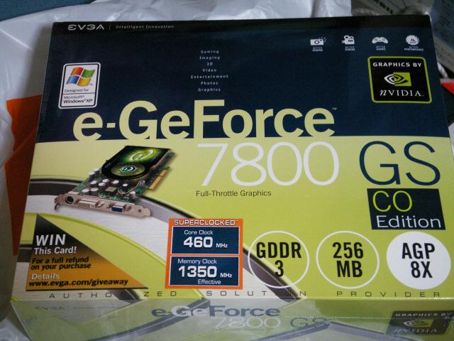 GeForce7800GS搭載カード OC版